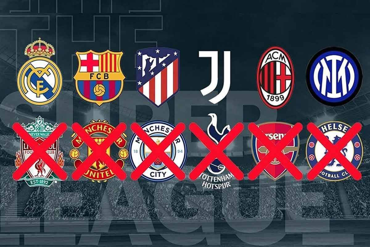 OUT OF THE GAME. Six English football teams have announced their withdrawal from the European Super League. Photo by Marca.com.