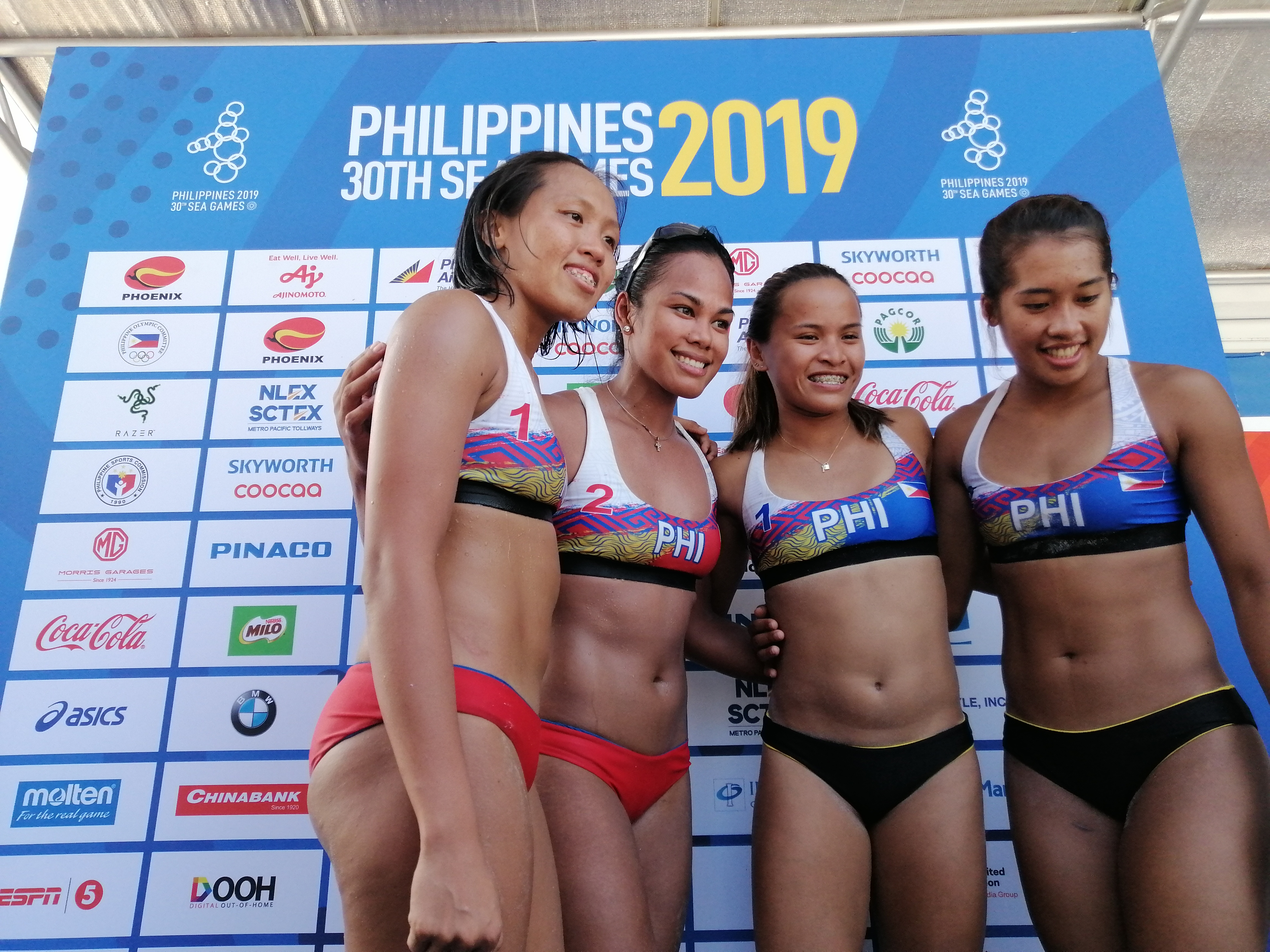2019 Sea Games Phl Lady Beach Spikers Score A Bronze After 14 Years Sagisag