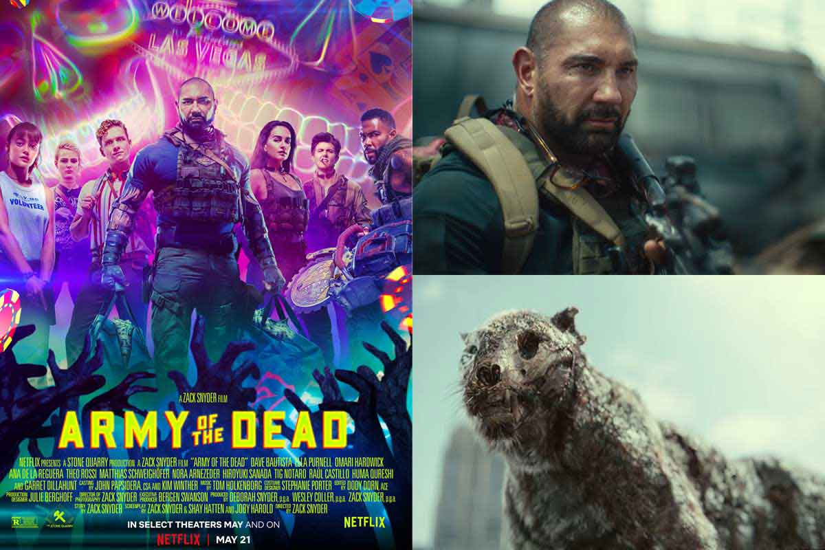 Zack Snyder's Army of the Dead movie poster, screengrabs
